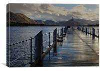Lakes Pier, Canvas Print