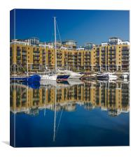 London Dock Reflection, Canvas Print