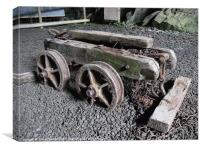 Welsh slate mine trolley, Canvas Print