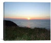Sunset On The Moray Coast, Canvas Print