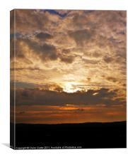The Hidden Setting Sun, Canvas Print