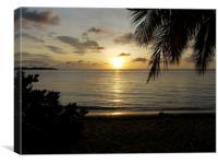Fiji Sunset, Canvas Print