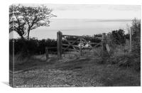 Gate, Gobbins Path, Islandmagee, Northern Ireland, Canvas Print