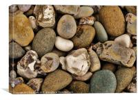 Rocks, Gobbins Path, Islandmagee, Northern Ireland, Canvas Print