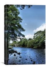 ilkley bye the river, Canvas Print