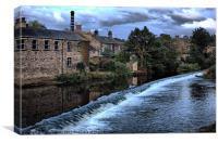 bingley. low. light. west. yorkshire., Canvas Print