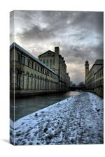 salts mill icey cold walk a long leeds liverpool c