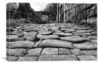 cobbled street in Heptonstall