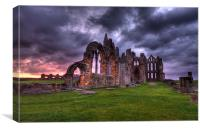 sunrise at whitby abbey north yorkshire