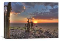 spurn point sunset, Canvas Print