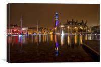 city park bradford at night , Canvas Print