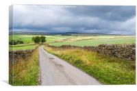 Derbyshire Storm Clouds, Canvas Print
