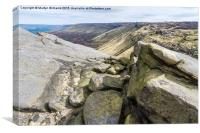 Seal Edge, Kinder Scout, Canvas Print