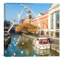 River Witham, Lincoln, Canvas Print
