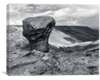 Weathered Gritstone, Kinder Scout, Canvas Print