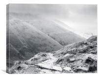 Kinder Scout And Jacob's Ladder, Canvas Print