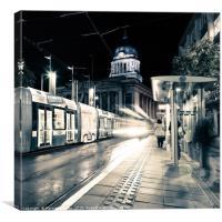 Nottingham At Night, Canvas Print