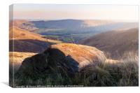 Gritstone Above Crowden Clough, Canvas Print