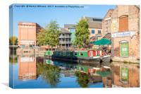 Nottingham and Beeston Canal, Canvas Print