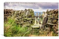 Stone Wall, Derbyshire, Canvas Print