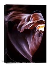 The Heart of Antelope Canyon, Canvas Print