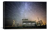 Dungeness Star Trail, Canvas Print
