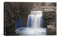 Jesmond Dene Waterfall, Canvas Print