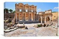 Library of Celsus and Gate of Augustus, Canvas Print