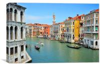 Grand Canal, Venice., Canvas Print