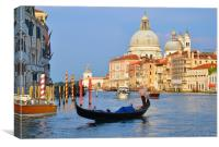 Gondolier Grand Canal                             , Canvas Print