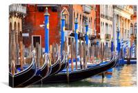 Gondolas.                                 , Canvas Print