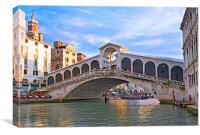 The Rialto Bridge                               , Canvas Print