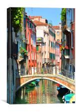 Venice Side Street                               , Canvas Print