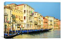 Venice Gondolas.                              , Canvas Print