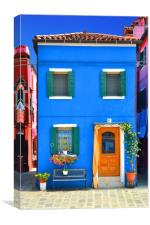 Colours of Burano                             , Canvas Print