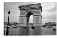 Arch de triumph in motion, Canvas Print