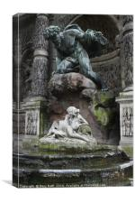 Medici Fountain, Canvas Print
