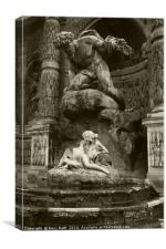 Medici Fountain, sepia version, Canvas Print