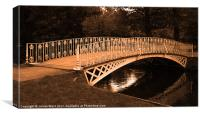 River Wandle Bridge 3, Canvas Print