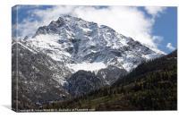 Mountainous Contrast, Canvas Print