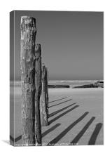 Wissant Beach Posts, Canvas Print