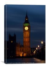 Big Ben Clock Tower, Canvas Print