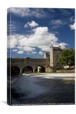Bath Weir, Canvas Print