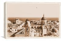 Dubrovnik in Sepia, Canvas Print