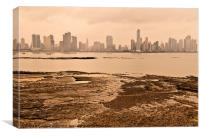 Panama City New View From Old, Canvas Print