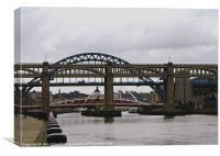 Newcastle Bridges, Canvas Print