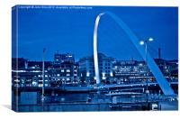 Gateshead Millenium Bridge, Canvas Print