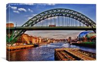 Tyne Bridge (HDR Effect), Canvas Print