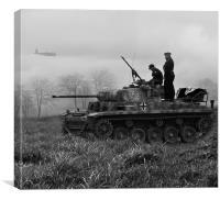 Panzer II (b/w), Canvas Print