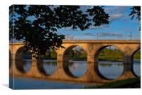 Hexham Bridge, Canvas Print